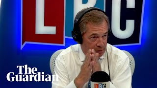 The moment Nigel Farage hangs up on The Observer's Carole Cadwalladr during LBC show