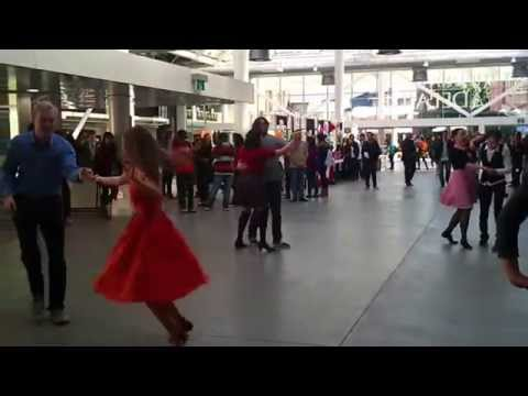 Swing dancing in The University of Adelaide