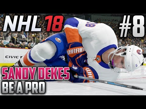 NHL 18 Be a Pro | Sandy Dekes (Center) | EP8 | BROKEN RIB