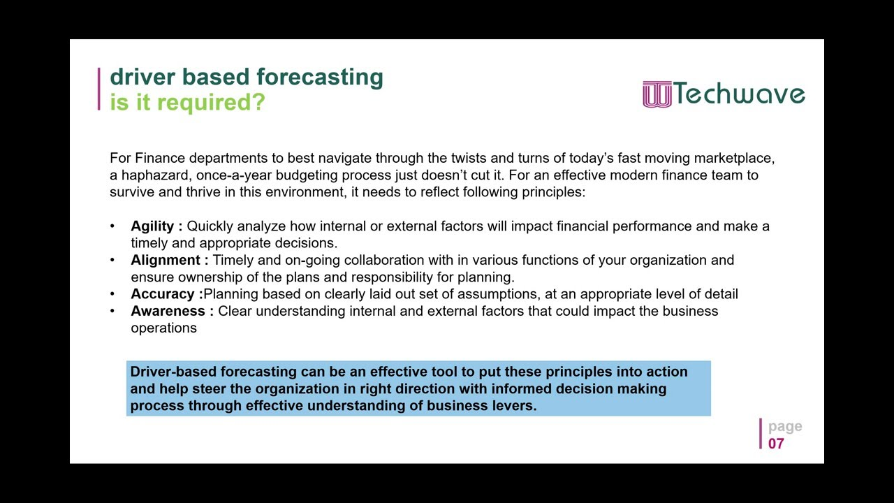 Driver-based Forecasting- Food Service Industry by Rajasekhar ...