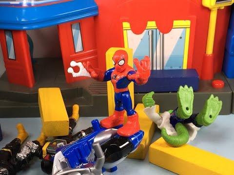 Hombre Araña en Español #3 El Heroe de Dibujos Animados | Juguetes de Spider-Man