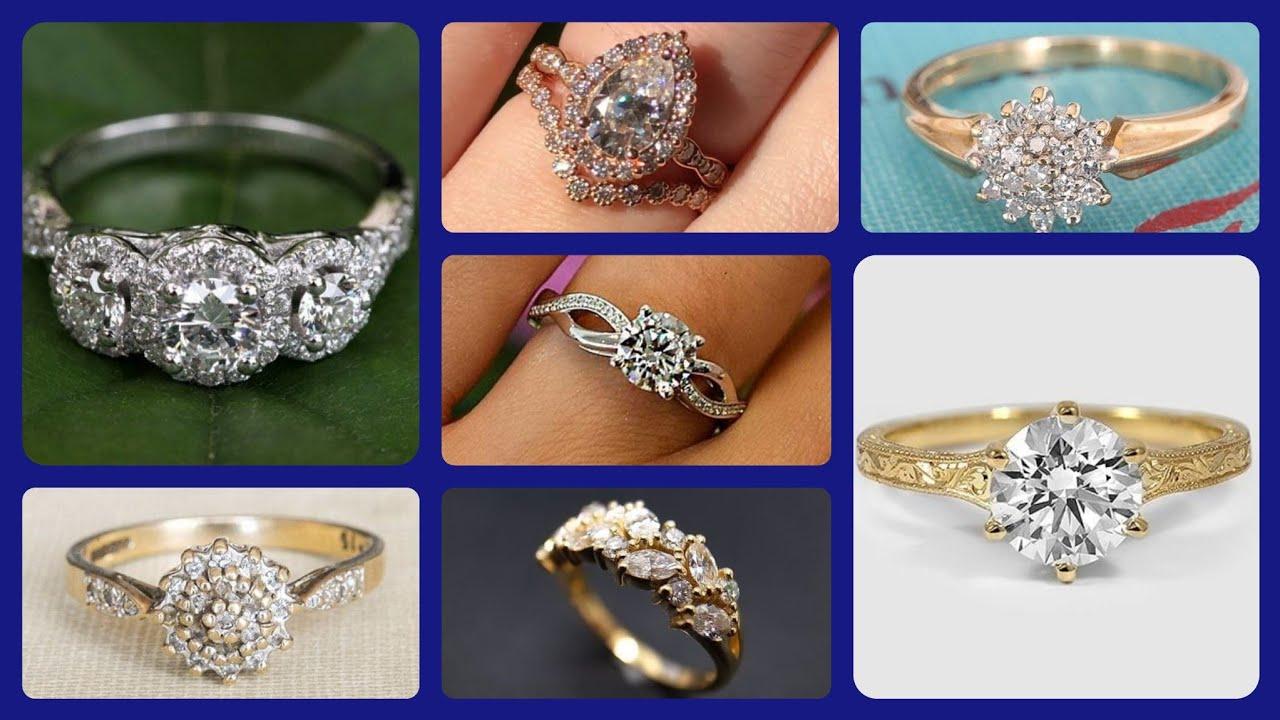 Latest Engagement Wedding Gold Diamond Ring Designs 2020 Fabulous Ring Designs For Girls Women Youtube