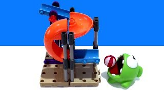Cut The Rope Om Nom's Playground Mega Playset With Mini Marble Run Demo