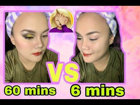 6mins VS 60mins MakeUp Challenge went wrong thumbnail