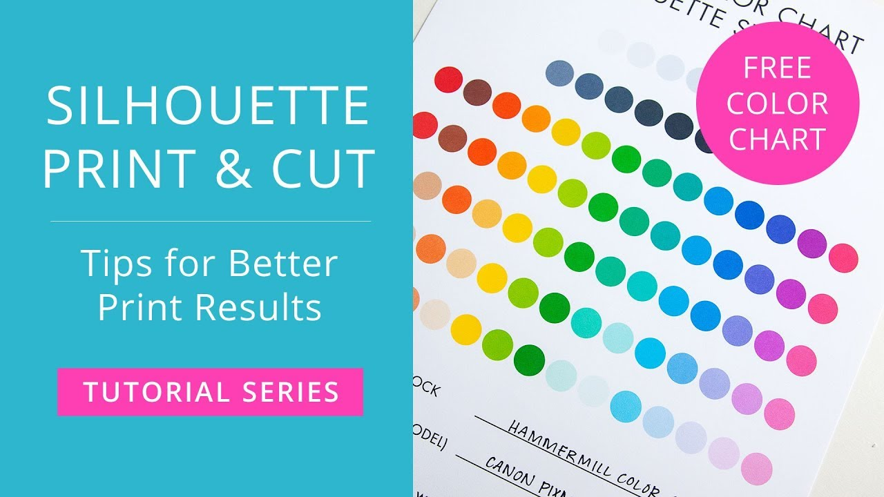 picture about Printable Color Chart identified as Silhouette Print Slice Guide - Recommendations for Far better Print Success - Absolutely free Printable Colour Chart