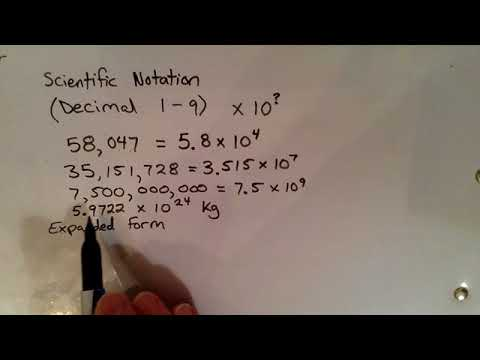 Scientific Notation & Expanded Form - YouTube