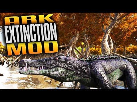 Ark Extinction Mod - Sarcosuchus Ate My Face (Ark Extinction Core Mod Ark Survival Evolved) (Mature)