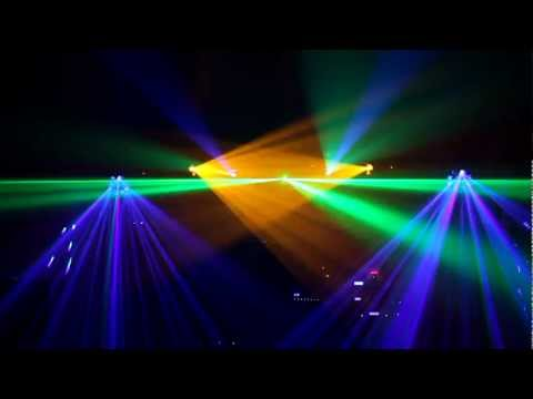 Laser Light Show (X-Laser Caliente, ADJ Royal 3D) 1