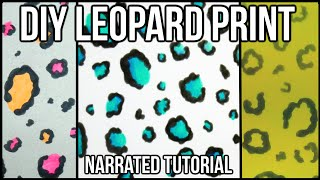 How to Draw EASY LEOPARD PRINT | NARRATED TUTORIAL