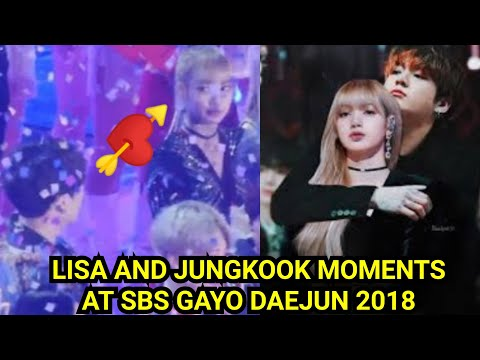 LIZKOOK 2018 SBS 가요대전 JUNGKOOK (방탄복 소년) AND LISA (블랙 핑크) MOMENTS
