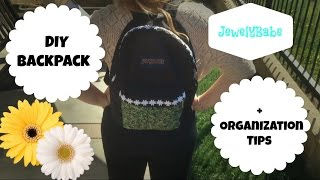 DIY Backpack + Organization Tips! Thumbnail