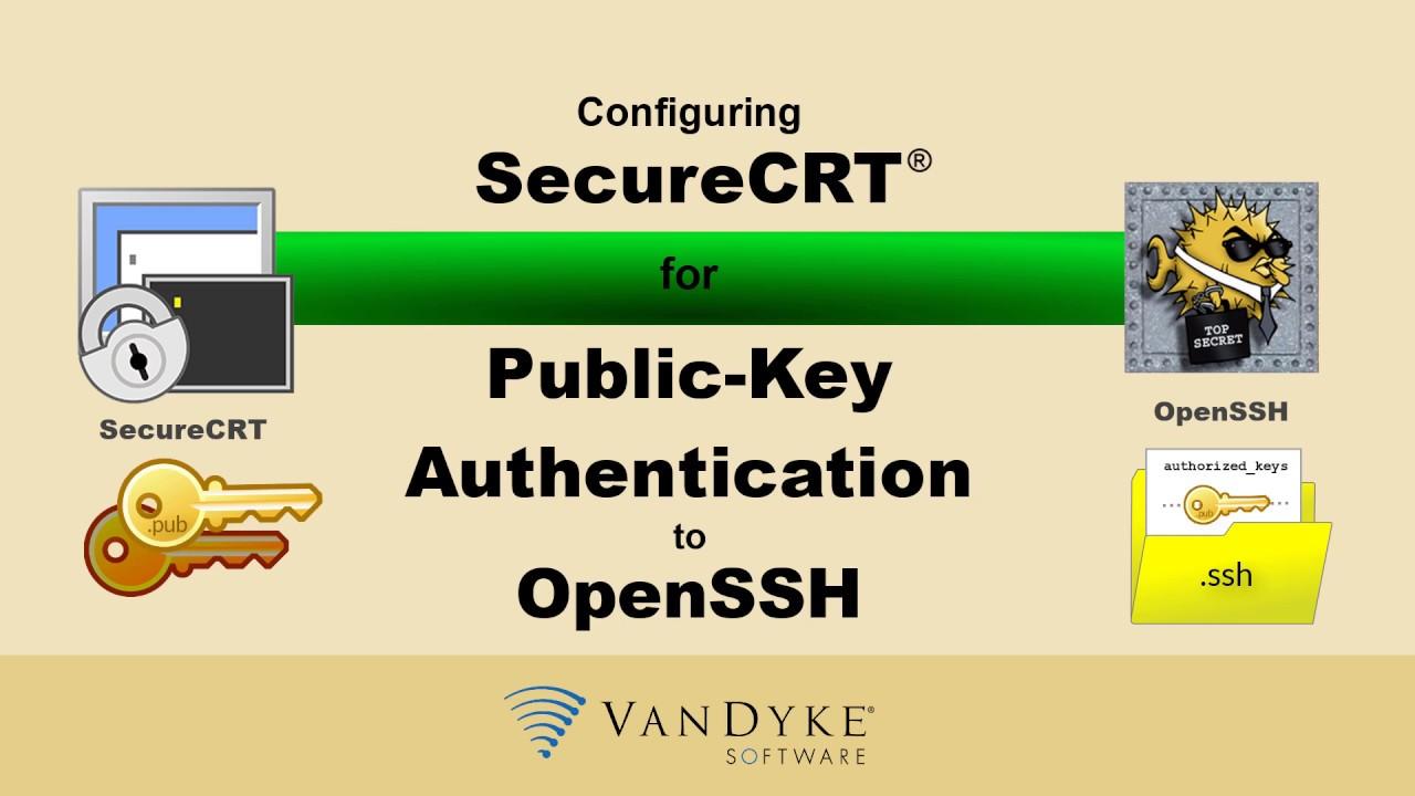Public-Key Authentication: SecureCRT to OpenSSH