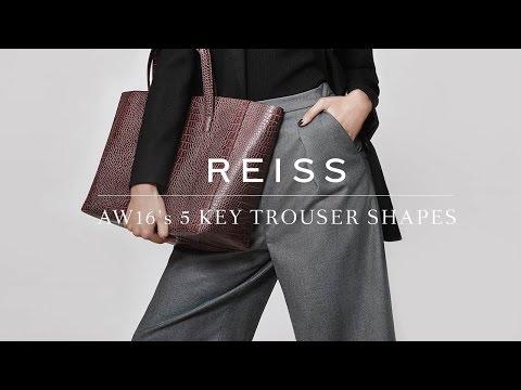 REISS: AW16's Key Trouser Shapes