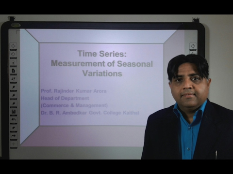 Time Series: Measurement of Seasonal Variations in Hindi under E-Learning Program
