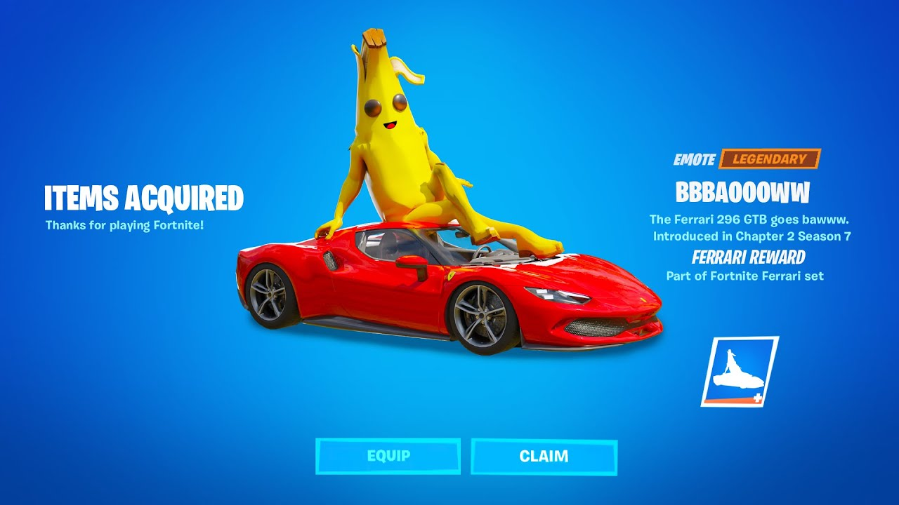 Fortnite Ferrari Challenge Reward
