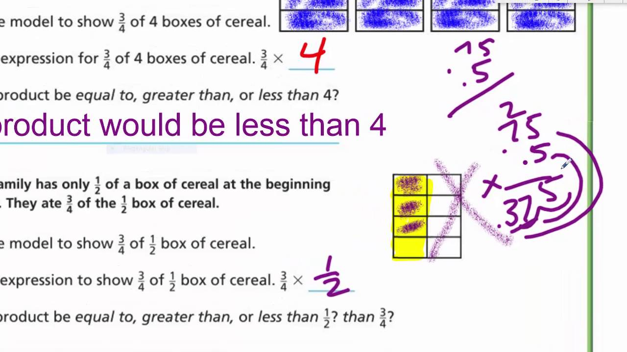 math fraction factors compare lesson 5th