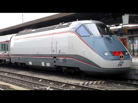 """Trenitalia """"Frecciabianca"""" Eurostar City Pulling into Verona Station, Italy"""