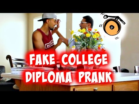 Fake College Diploma PRANK!! (Dad Attempts to Beat the Crap Out of Me)
