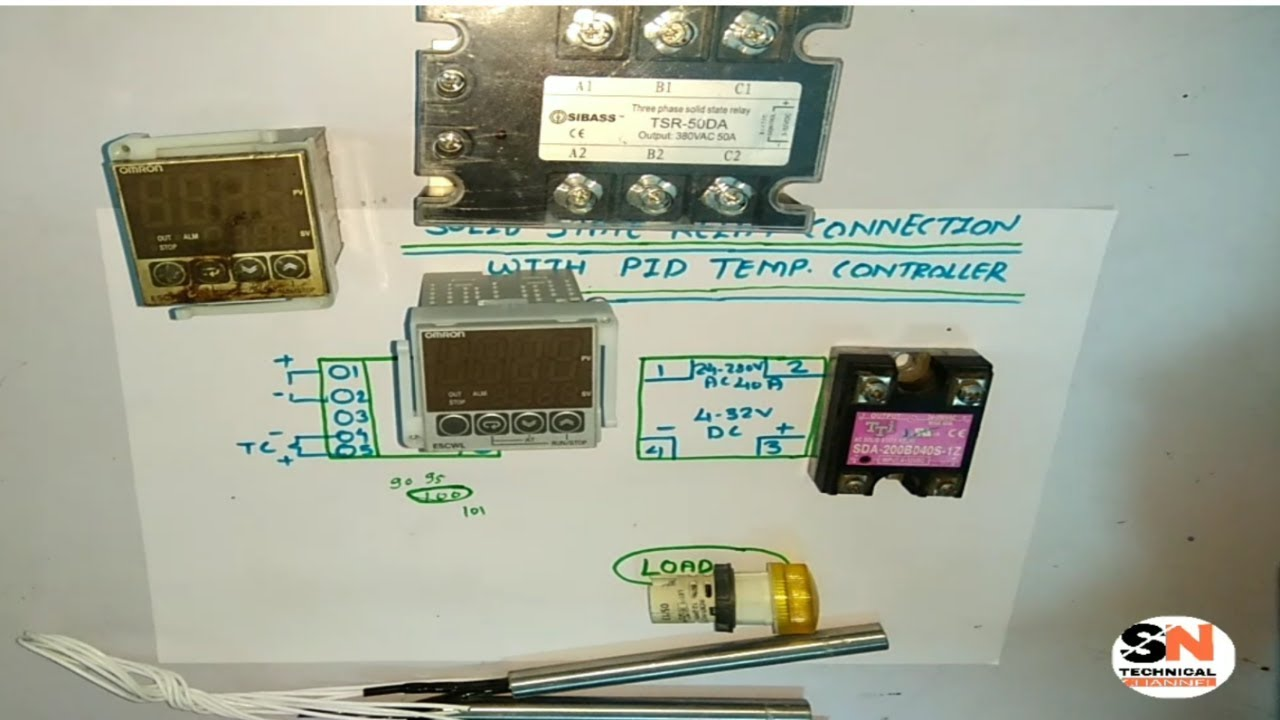 SINGLE PHASE SOLID STATE RELAY CONNECTION WITH PID TEMPERATURE CONTROLLER