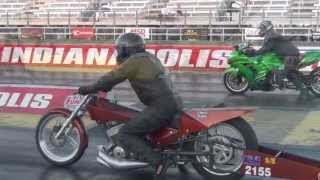 2 Stroke Super Eliminator test & tune motorcycle drag racing NHDRO 2012