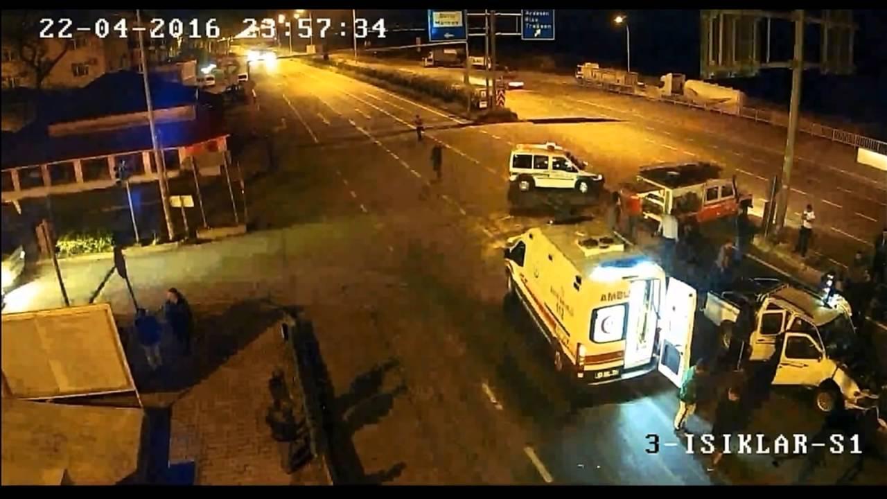 Fındıklı Trafik Kazası MOBESE Görüntüsü