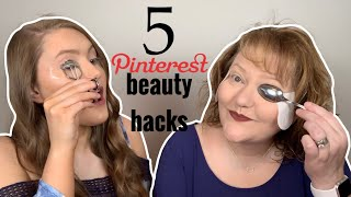 Pinterest Beauty Hacks Tested | For Eyes | Eyeshadow Hacks | Eyeliner Hacks | Mascara Hacks