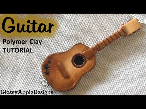 Polymer Clay Classic/Acoustic Guitar Charm/Pendant Tutorial || Maive Ferrando