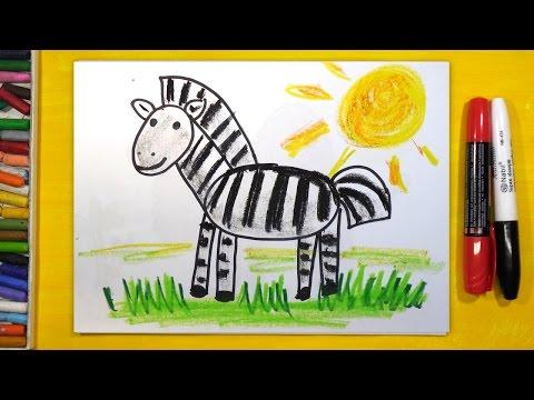 Как нарисовать зебру поэтапно
