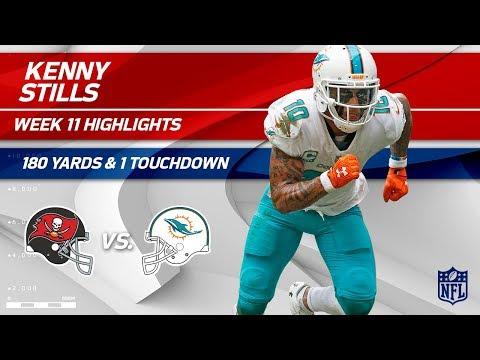 Kenny Stills' Amazing Game w/ 180 Yards & 1 TD! | Bucs vs. Dolphins | Wk 11 Player Highlights