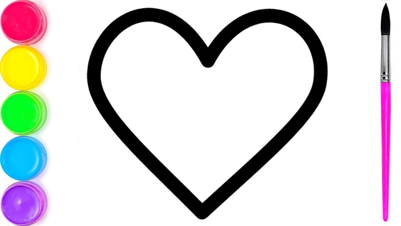 рисование сердца для детей   я изучаю английский цвета ...