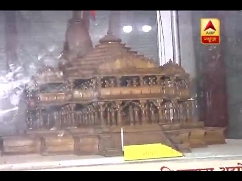 People gather in large number to take a look at Ram Mandir's model at Shri Ram Janambhoomi