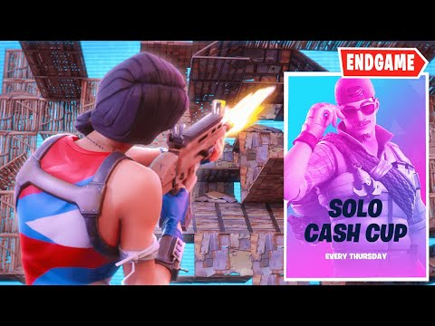 Spending An Entire Solo Cash Cup Playing For Endgame! (Fortnite Battle Royale)