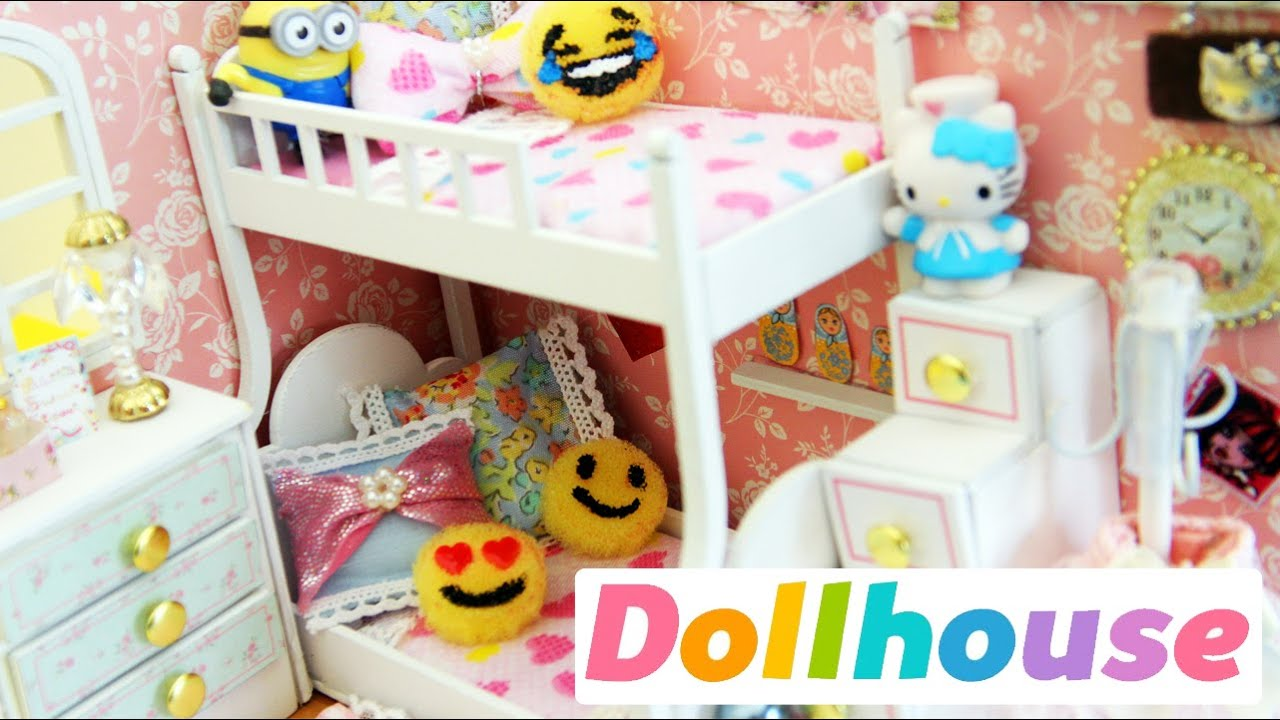 Miniature dollhouse bedroom angel dream preview youtube for Cuarto de zapatos