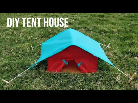 DIY Tent House Using Non-Woven Carry Bags| School Project | Types of Houses – Tent House