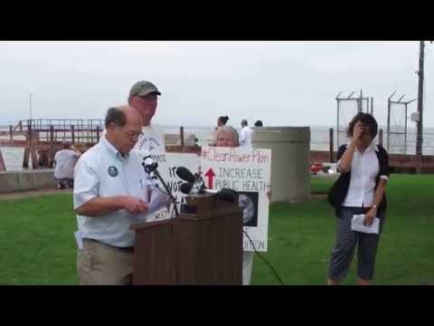 Alan Lawrence speaks at Clean Power Plan rally in Green Bay 09/03/15