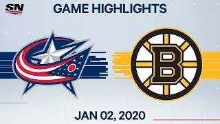 NHL Highlights   Blue Jackets vs. Bruins - Jan. 2, 2020
