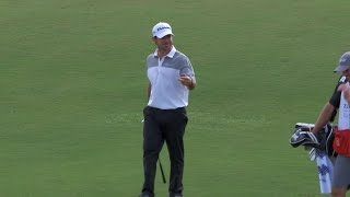 Brian Harman closes his day with a birdie hole out at Zurich