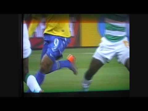 Luis Fabiano amazing goal (brazil v ivory coast) Handball?