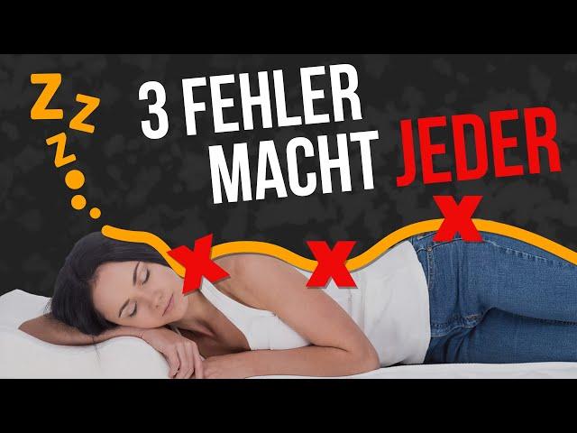 Richtig schlafen 💤 Diese 3 Fehler machen 90% aller Menschen – Du auch?