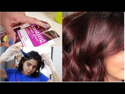 How To Dye Hair Mahogani At Home|Loreal Paris Cream Gloss