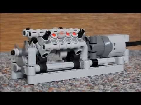 lego technic mini v8 engine youtube. Black Bedroom Furniture Sets. Home Design Ideas