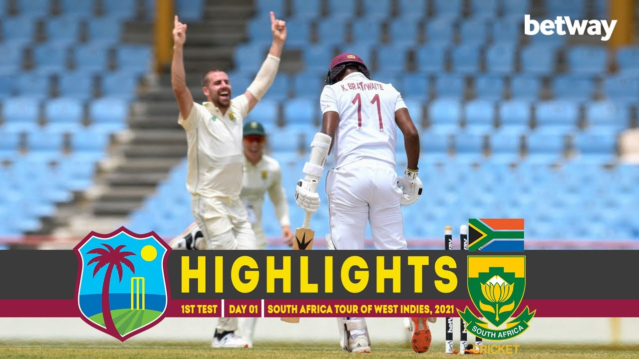 West Indies vs South Africa | 1st Test | Day 01 | South Africa tour of West Indies, 2021