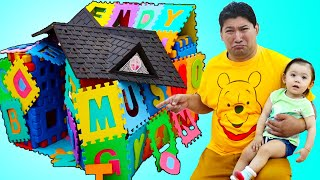 Baby Maddie Pretend Play Building New ABC Alphabet Playhouse Toy for Kids