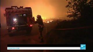 Sud de la France : les pompiers réussissent à endiguer l'incendie, les dégâts sont considérables