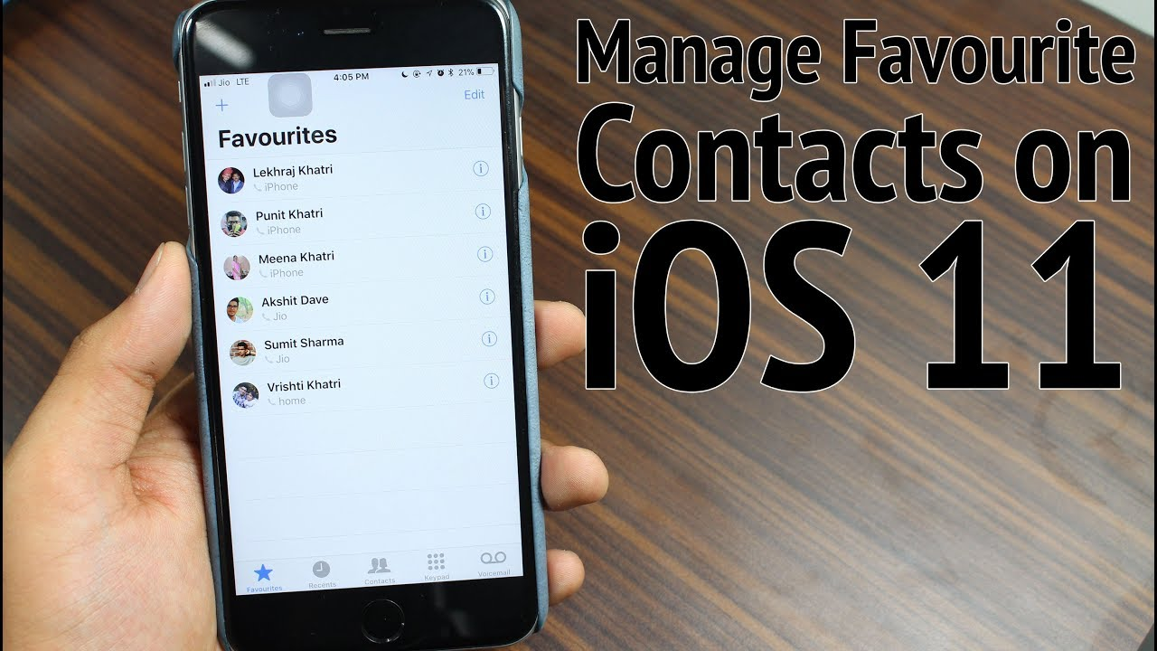 how to make a favorite on iphone 4