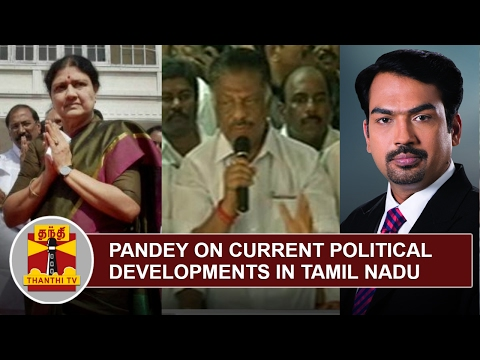 Rangaraj Pandey on Current Political Developments in Tamil Nadu | Thanthi TV