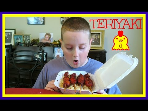 Teriyaki Chicken Skewers with Rice Mukbang | The Barkers