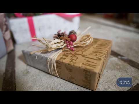 Ekologiškas Kalėdinių dovanų pakavimas