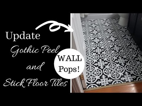 Wall Pop's Peel and Stick Floor Tiles one Month Update