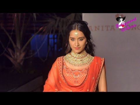 Shraddha Kapoor Walks The Ramp for Anita Dongre At 'The Wedding Junction Show'